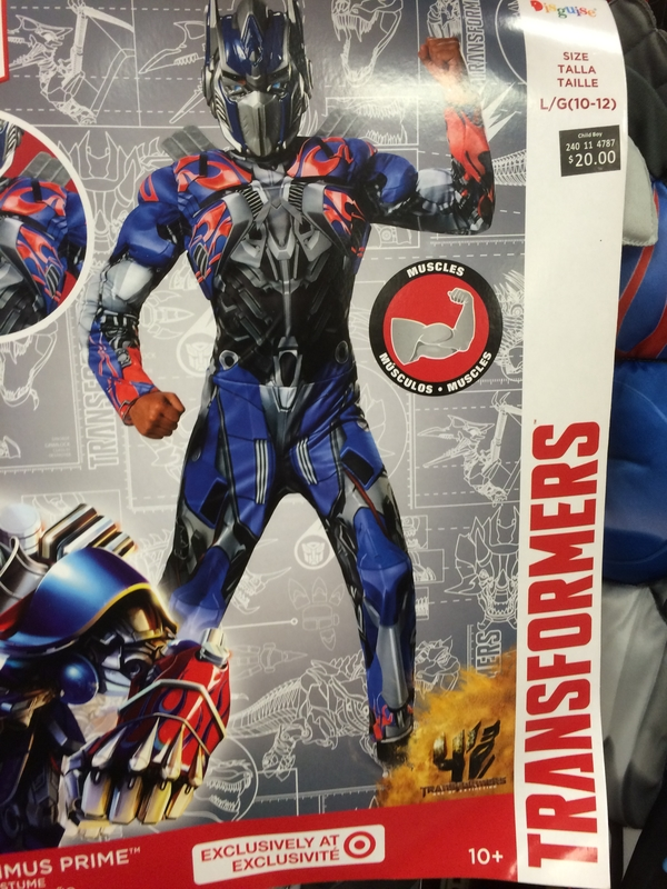 Transformers Optimus Prime Bumblebee Muscle Target Exclusive Hollween Costumes/27611