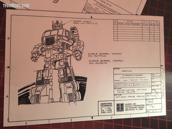Sdcc 2017 Vintage G1 Patent Illustrations On Display Hinting At Power Of The Primes/32106