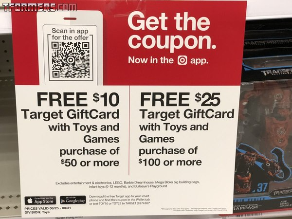 Target $25 or $10 Gift Cards On All Transformers Purchases Over $50