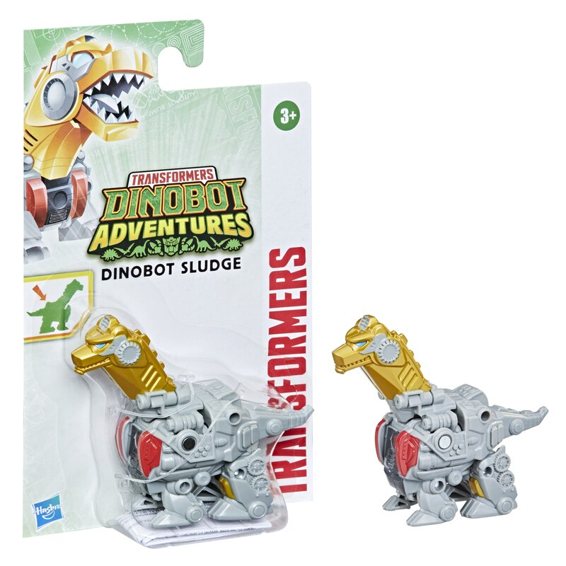 Transformers Dinobot Adventures Dinobot Strikers Dinobot Sludge with Chomping Action